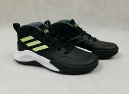 Adidas Own The Game K Wide Basketball Shoes Black Green Boys