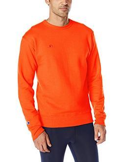 Champion Men's Powerblend Sweats Pullover Crew Orange XL