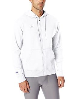 Champion Men's Powerblend Sweats Full Zip Jacket White L