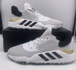Adidas Pro Bounce 2019 Low Basketball Shoes White Black Gold