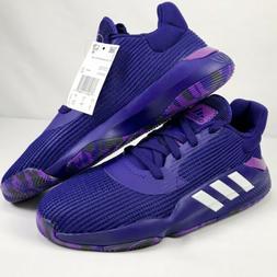 Adidas Pro Bounce 2019 Low Purple Basketball Shoes EF0673 Me