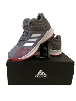 Adidas Pro Spark 2018 Basketball Shoes Kids Boys 5.5 Gray/Re
