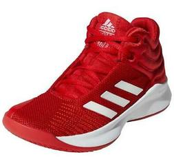 Adidas Pro Spark 2018 Kids Basketball Shoes Mid Top Red+Whit