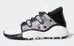 Adidas Pro Vision Basketball Mid Shoes White Black EF0477 $1