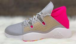 Adidas Pro Vision Basketball Shoes Grey White Pink EF8821 Me
