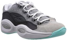 Reebok Men's Question Low R13, BLACK/TAR/CARBON/WHITE/AQUA,