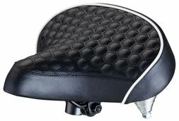 Schwinn Quilted Wide Cruiser Saddle,Extra soft foam provides