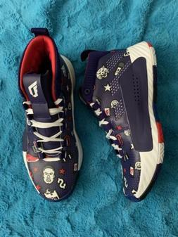 RARE Adidas Dame 5 Purple Red White EG2820 Damian Lillard Ba