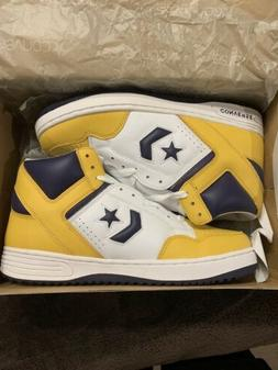 RARE!!! CONVERSE WEAPON PURPLE/WHITE/YELLOW BASKETBALL SHOES