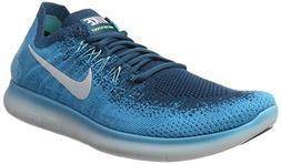 Nike Free Rn Flyknit 2017 Sz 11 Mens Running Blue Lagoon/Pur