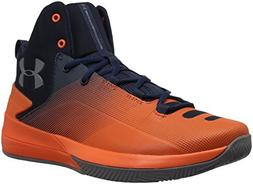 Under Armour Men's Rocket 3 Basketball Shoe, Cadet /Explosiv