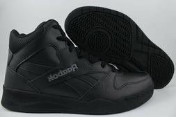 REEBOK ROYAL BB4500 H2 HIGH HI WIDE E BLACK/GRAY CLASSIC BAS