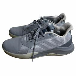 adidas Runthegame - Unisex Basketball Shoes gray size 14 men