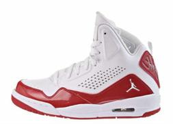 Jordan SC-3 Basketball Mid Shoes White Red Leather  629877-1