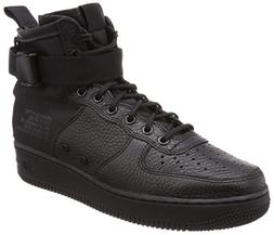 NIKE Men's SF AF1 Mid Black/Black Black Basketball Shoe 9 Me
