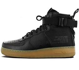 NIKE Men's SF AF1 Mid, Black/Black-Gum Light Brown, 12 M US
