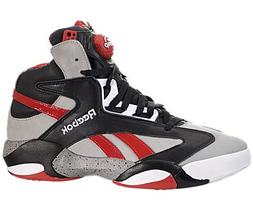 Reebok Shaq Attaq Brick City Mens Basketball Shoe 12 Grey-Bl
