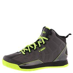AND1 Kids Show Out Basketball Shoe, 6 M US Big Kid Grey/Blac