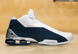 Nike Shox BB4 Mens Vince Carter Basketball Shoes White Navy