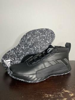 Size 14 - Adidas Dame 5 Men Basketball Shoes Black White EE5