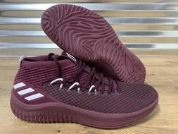 Adidas SM Dame 4 Basketball Shoes Damian Lillard Maroon Red