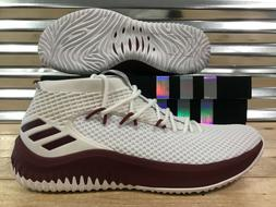 Adidas SM Dame 4 Basketball Shoes Damian Lillard White Maroo