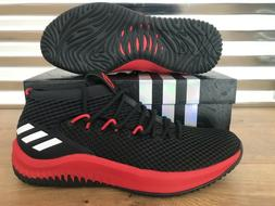 Adidas SM Dame 4 NCAA Basketball Shoes Black Scarlet Red Whi