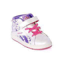 Reebok Sofia Court Mid Classic Shoe , White/Lush Orchid/Sola