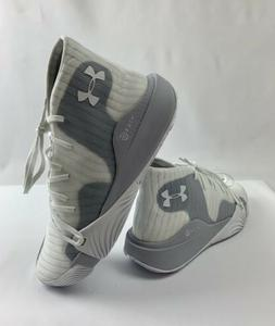 Under Armour Spawn Mid White Grey Basketball Shoes   Men's S