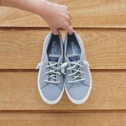SPERRY Women's Crest Vibe Linen Sneaker - Gray - 9M - Brand