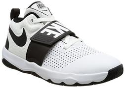 Nike Boys' Team Hustle D 8  Basketball Shoe, White/Black, 6Y