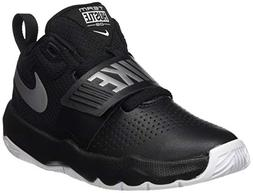 NIKE Boys' Team Hustle D 8  Basketball Shoe, Black/Metallic