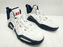 Adidas Techfit USA Red White Blue Basketball Shoes Size 20