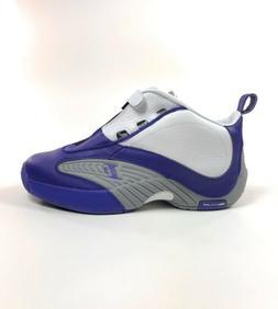 Mens Reebok Answer IV PE Basketball Shoes Size 11 Purple Whi