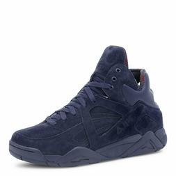 Fila THE CAGE Mens Navy Fashion Sneaker Suede Basketball Hig