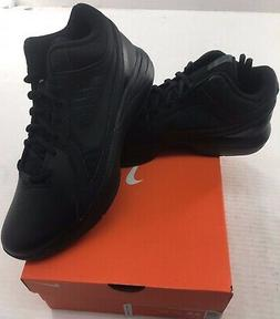Nike The Overplay VIII Mens Black Leather Basketball Shoes -