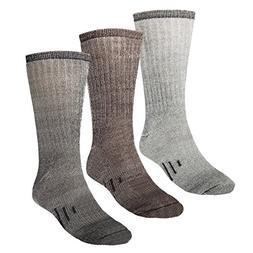 3 Pairs Thermal 80% Merino Wool Socks Thermal Hiking Crew Bl