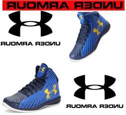 Under Armour UA BPS Jet Mid Boy's Basketball Shoes Royal Blu