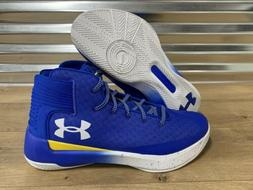 Under Armour UA Curry 3Zero Basketball Shoes Blue Gold SZ