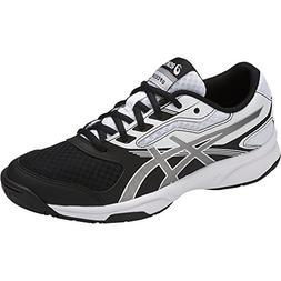 ASICS Womens Upcourt 2 Volleyball Shoe, Black/Silver/White,