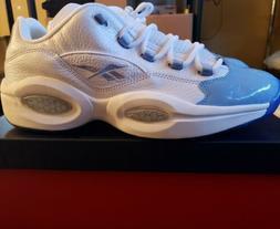 Reebok US Men's Size 13 Question Low Basketball Shoes White/