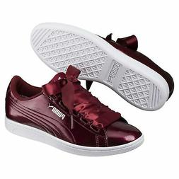 PUMA Vikky Ribbon Patent Women's Sneakers Women Shoe Basics