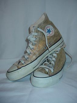 Vintage 80's Converse Chuck Taylor Gold Lame' Basketball Sho