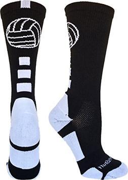 MadSportsStuff Volleyball Logo Crew Socks
