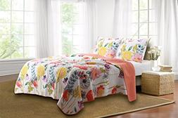 Greenland Home Fashions Watercolor Dream Quilt Set