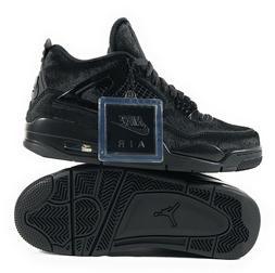 "Women's Air Jordan 4 Retro Olivia Kim ""No Cover"" Black Fur B"