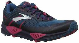 Brooks Women's Cascadia 13 Running Shoe, Ink/Navy/Pink, 11 B