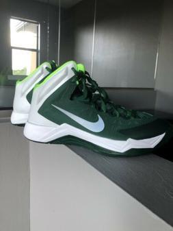 Women's Nike hyperquickness basketball shoes green Size 10