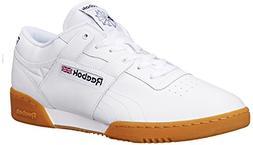 Reebok Men's Workout Low Classic Shoe, White/Gum, 10.5 M US