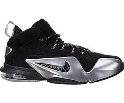 Nike Men's Zoom Penny VI Black/Metallic Silver Basketball Sh